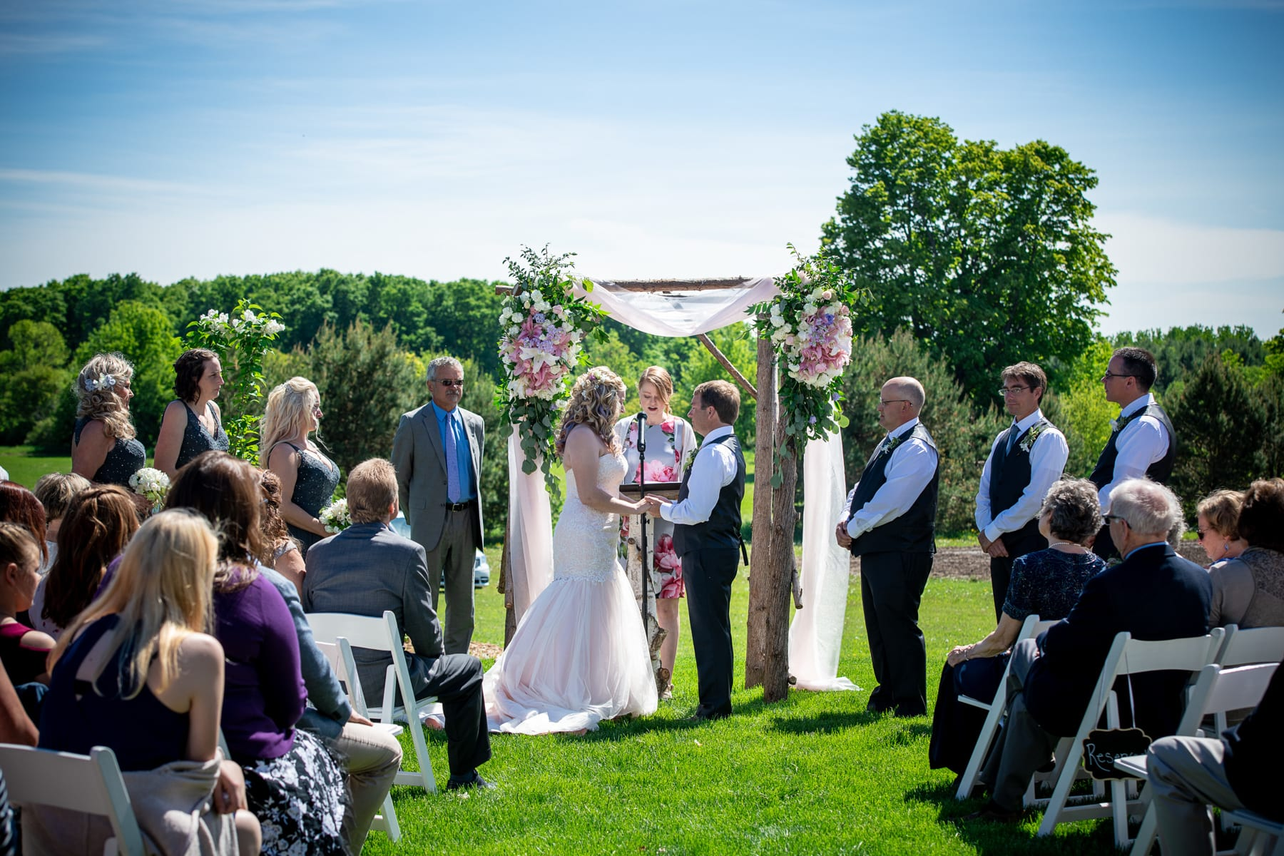 Outdoor Ceremony Wedding DJ in Green Bay Header