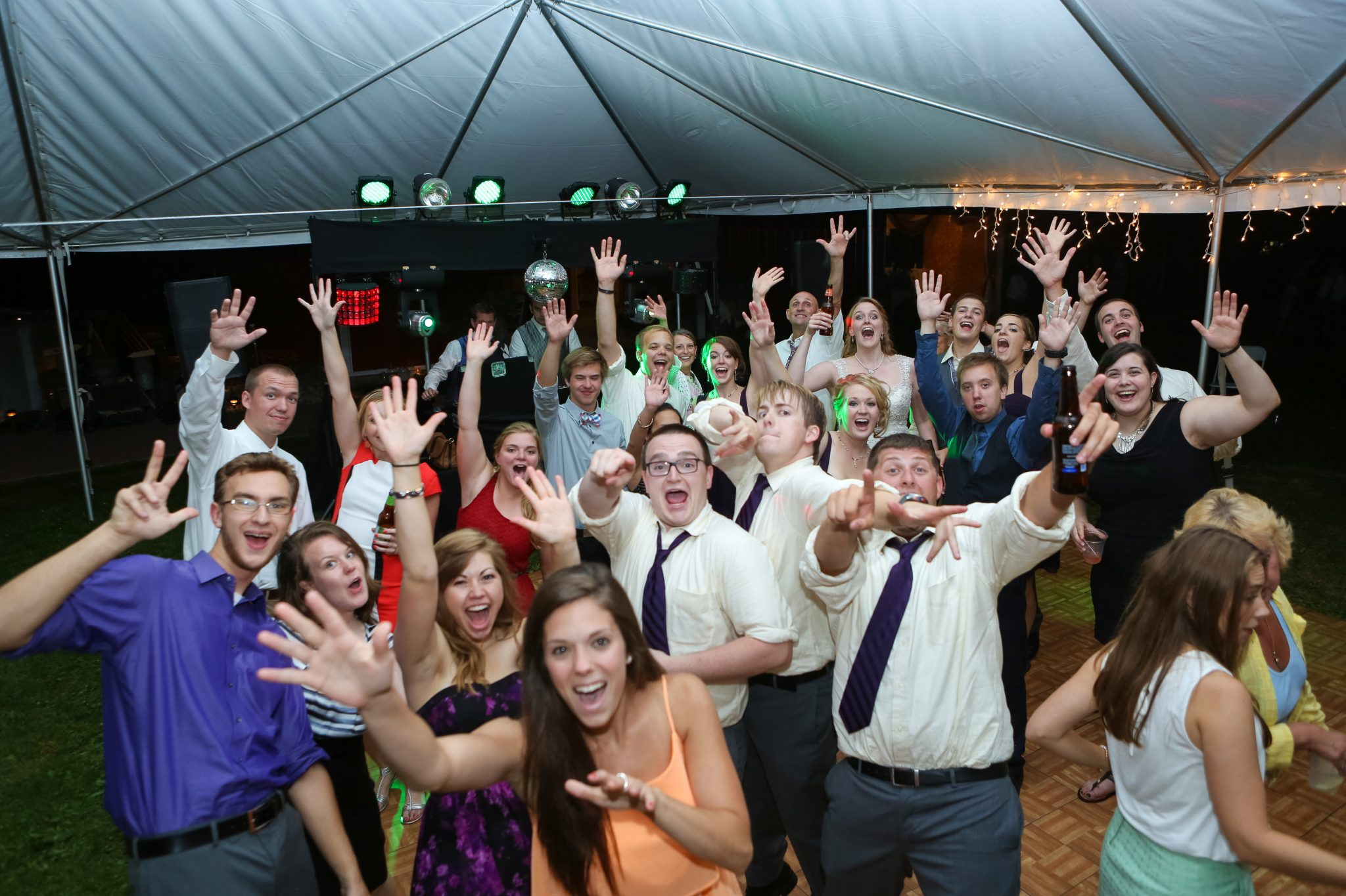 Happy Guests Display Wedding DJ in Green Bay